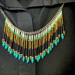 Silpada Free Spirit Multi Stone Fringe Necklace
